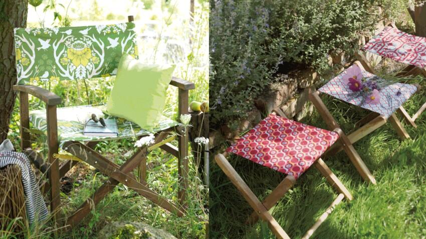 Recouvrir des sièges de jardin
