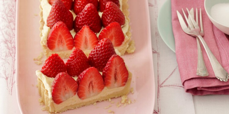 Tarte aux fraises et crème mousseline
