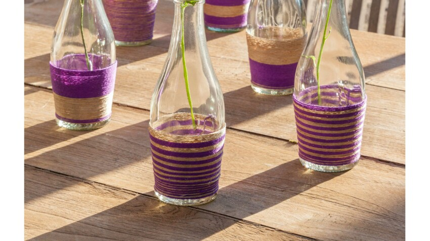 Je customise des bouteilles en verre