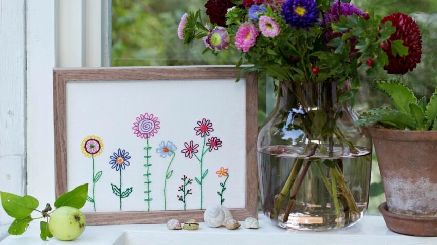 5 broderies fleuries spéciale débutante