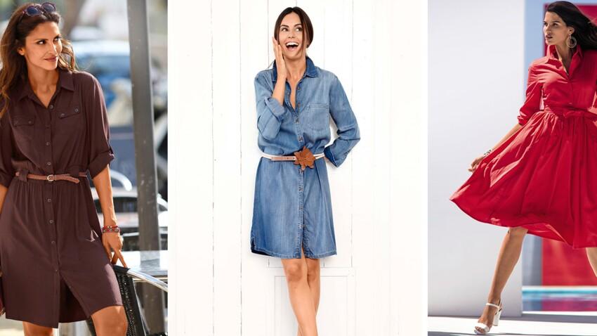 Comment Porter La Robe Chemise Avec Style Femme Actuelle Le Mag