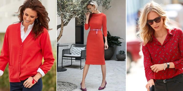 Comment bien porter la robe rouge ? : Femme Actuelle Le MAG