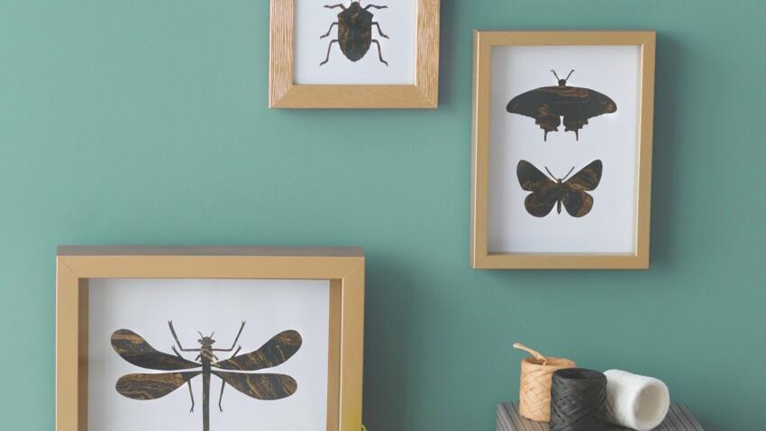 Des insectes en papier pour mes murs