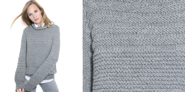 Le pull col fantaisie femme