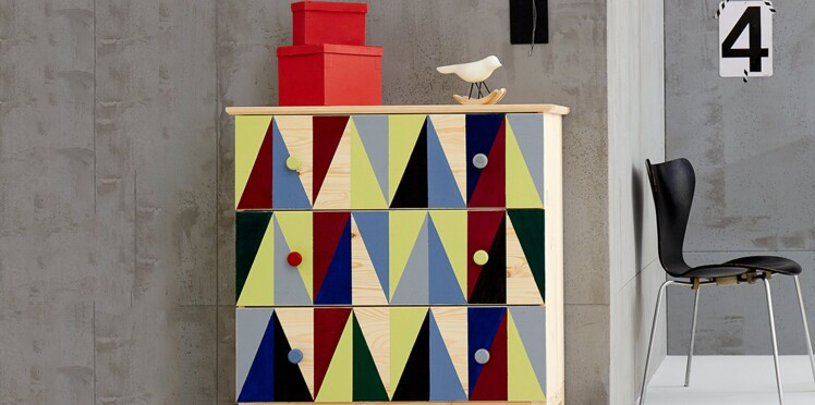 Peinture : meubles et accessoires bruts, relookés de couleurs vives