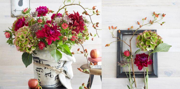 Une déco florale pour l'automne