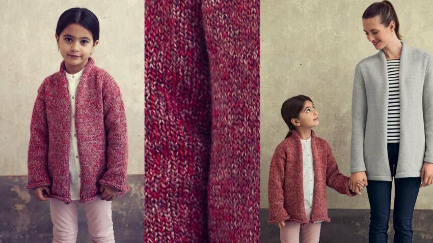 La veste col châle enfant