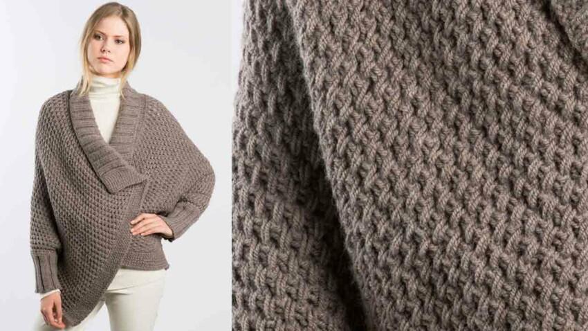 La veste cape tricotée