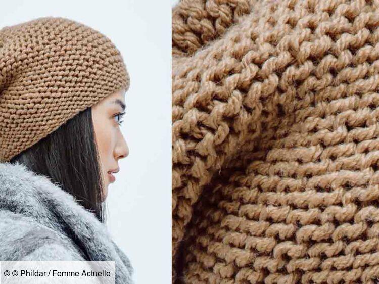 Le Bonnet Facile A Tricoter Femme Actuelle Le Mag