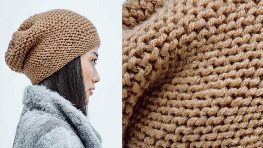 Le bonnet facile a tricoter