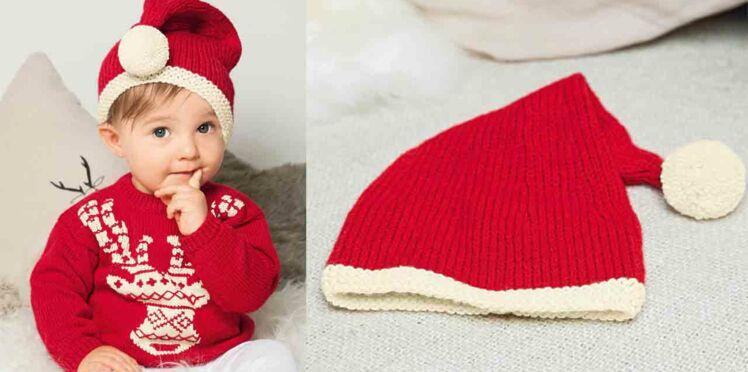 Le bonnet de Noël layette