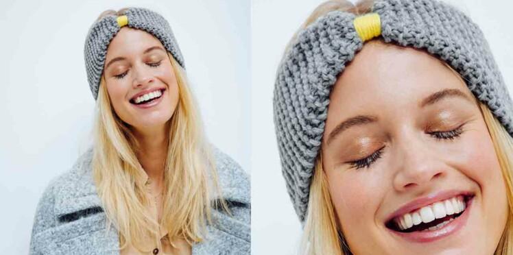 Un headband facile à tricoter   Femme Actuelle Le MAG a82628e8257