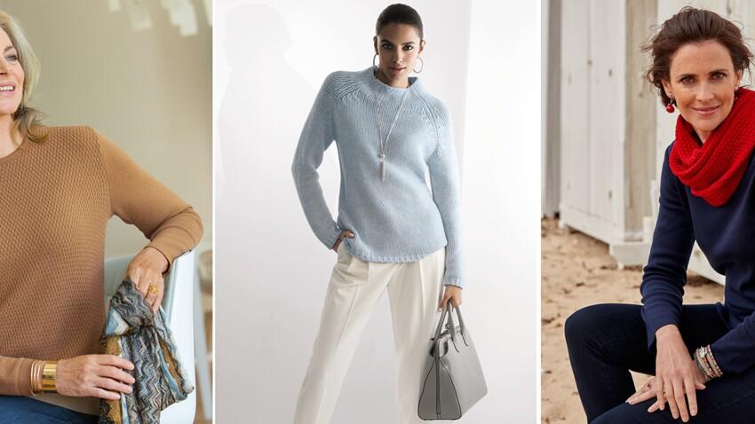 Mode + 50 ans : comment porter la maille de l'automne ?
