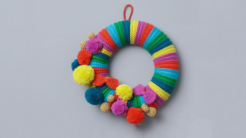 Idées créatives de Noël : Une couronne au crochet