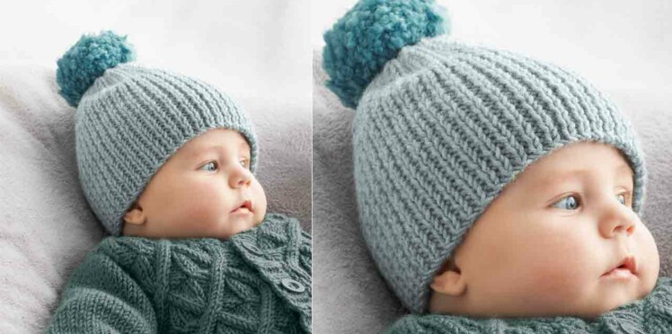 99fafc201242 Le bonnet en côtes pour bébé   Femme Actuelle Le MAG