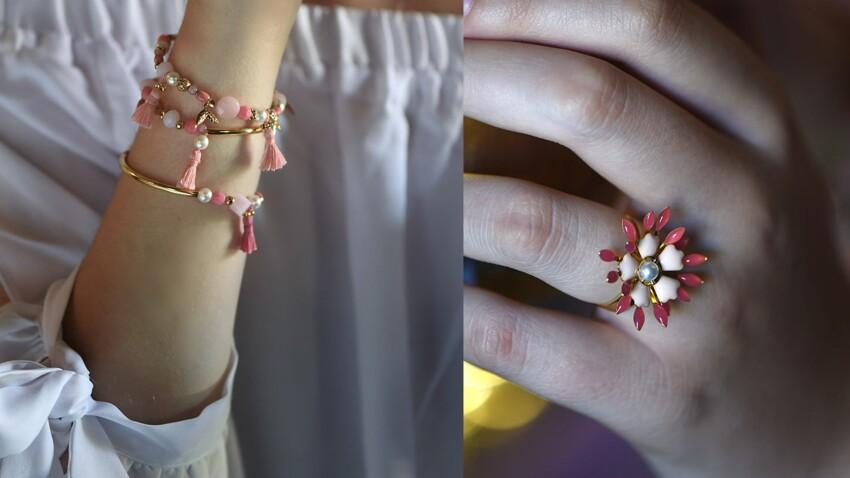 DIY : trio de bracelets et bague en corolle