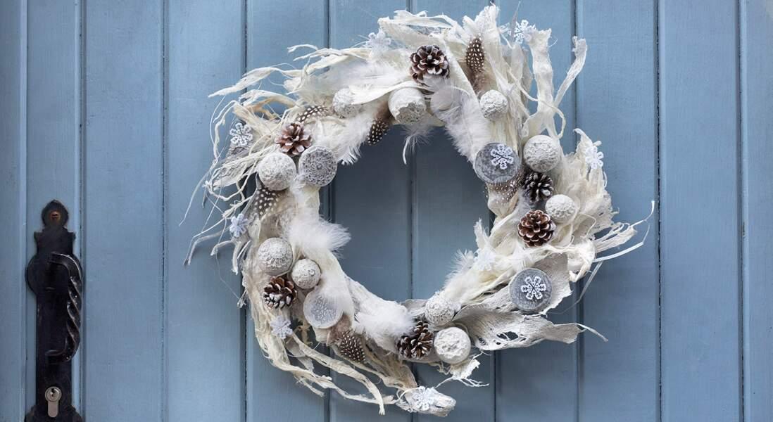 DIY Noël : une couronne givrée