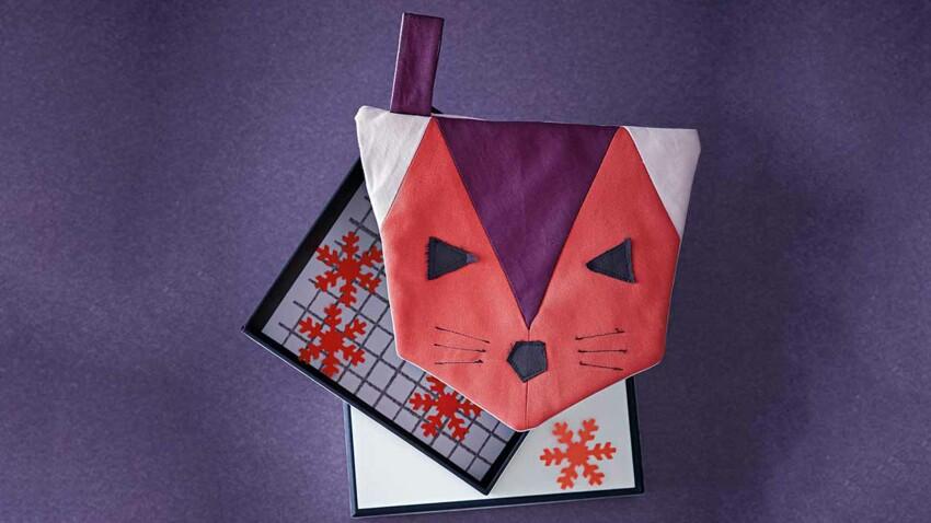 Une pochette à coudre en patchwork