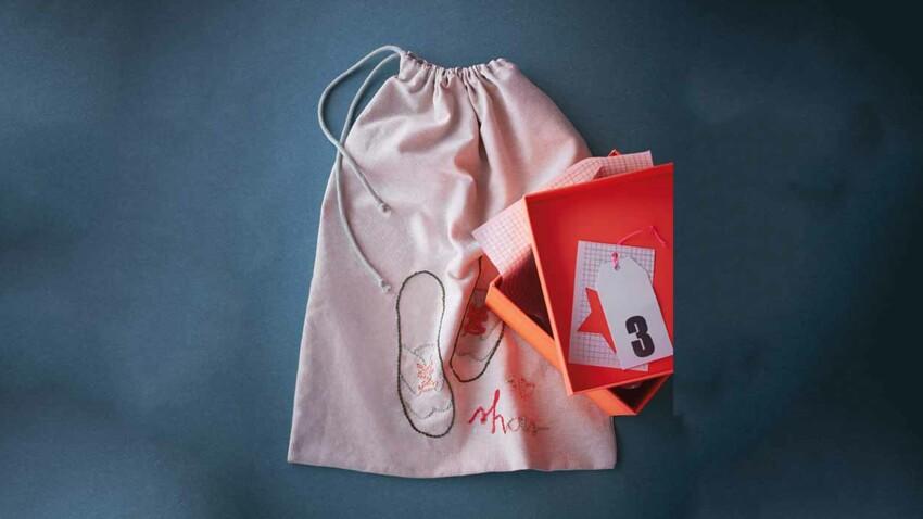 Un sac à chaussures à broder