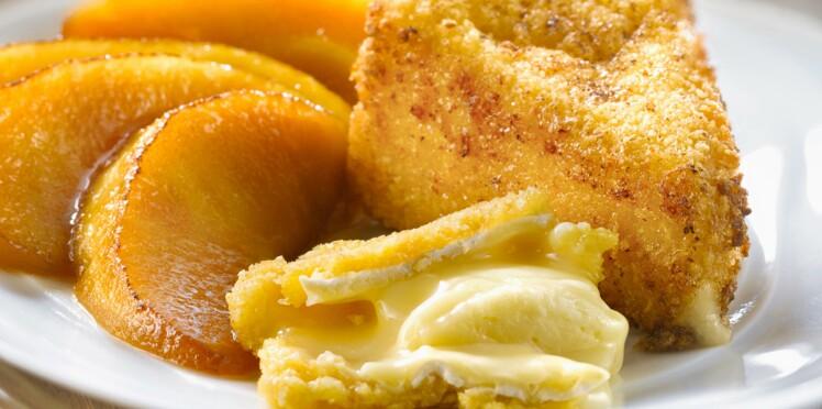 Camembert pané aux pommes