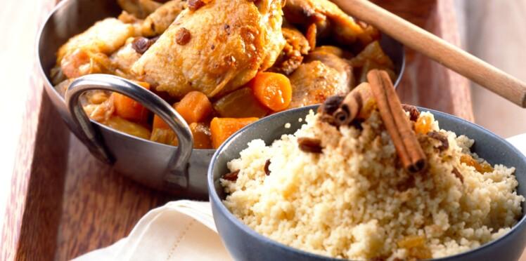 Couscous de poulet aux raisins secs