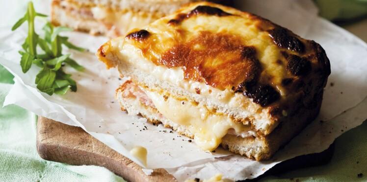 Croque-monsieur moelleux au jambon et à l'emmental