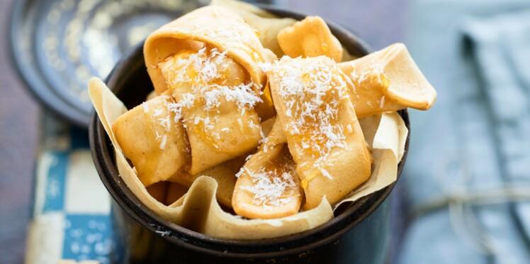 Frappes à l'italienne, cumin et noix de coco râpée