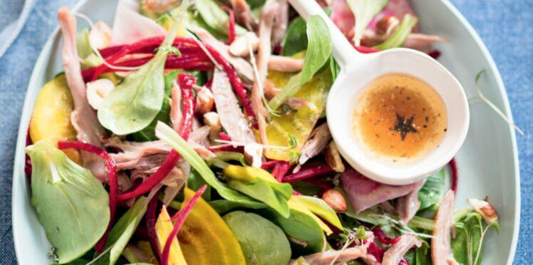 Salade croquante au canard confit