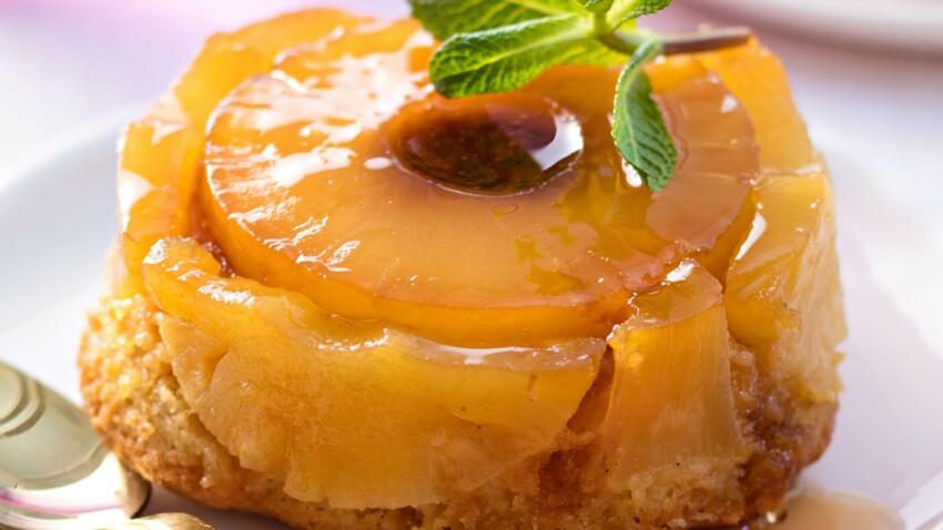 Gâteau à l'ananas frais, sirop façon mojito