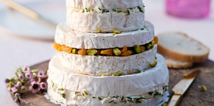 Pyramide de fromages aux saveurs printanières