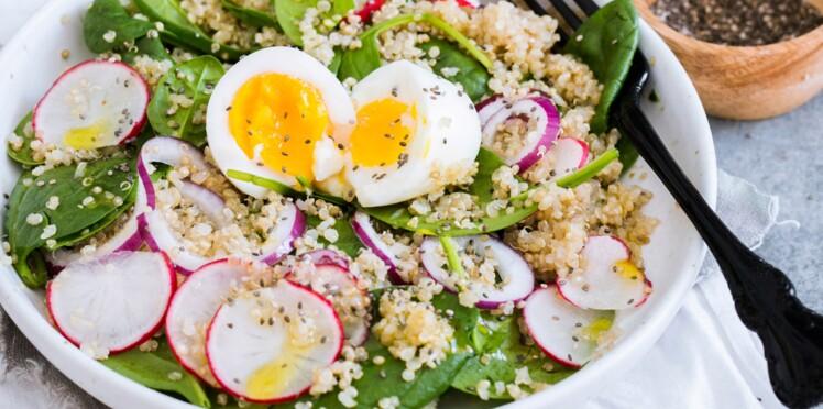 Salade au quinoa et aux graines de chia