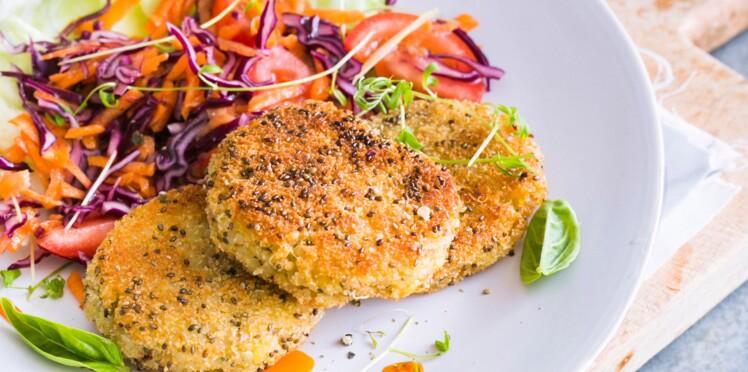 Galettes vegan aux graines de chia et sauce piquante