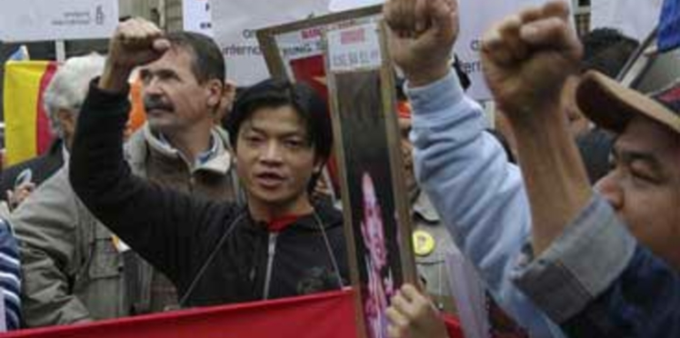 Manifestation contre la dictature birmane