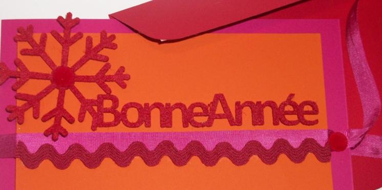 Une carte de vœux pour célébrer la nouvelle année