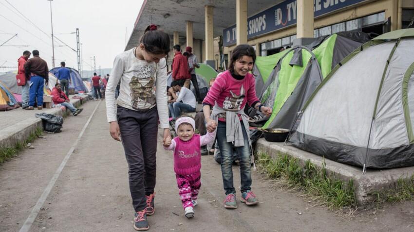 A Idomeni, en Grèce, auprès de familles de réfugiés