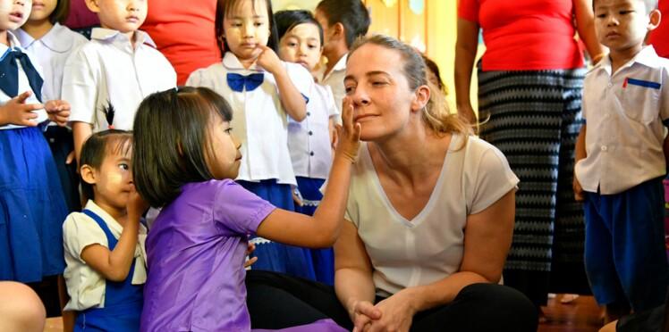 Parrainage d'enfants: la chef Amandine Chaignot rencontre sa filleule