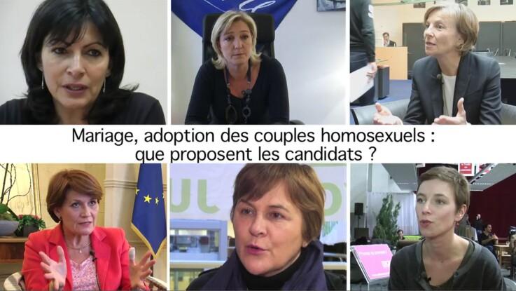 Mariage et adoption des homosexuels : les engagements des candidats