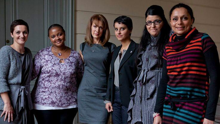 Najat Vallaud-Belkacem face à des femmes victimes de violences
