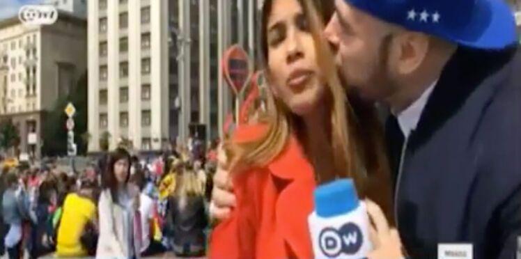 Agression sexuelle : un supporter touche la poitrine d'une journaliste et l'embrasse en direct
