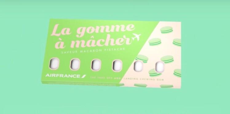 """Air France lance sa """"Gomme à mâcher"""" pour soulager les oreilles dans l'avion"""