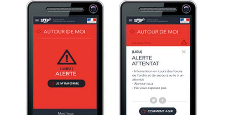 """Le gouvernement lance une appli """"Alerte attentat"""""""