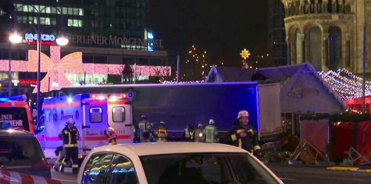 """Berlin : le camion a """"foncé intentionnellement"""" dans la foule, au moins 12 morts"""