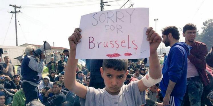 Attentats de Bruxelles: la photo d'un jeune réfugié devenue virale