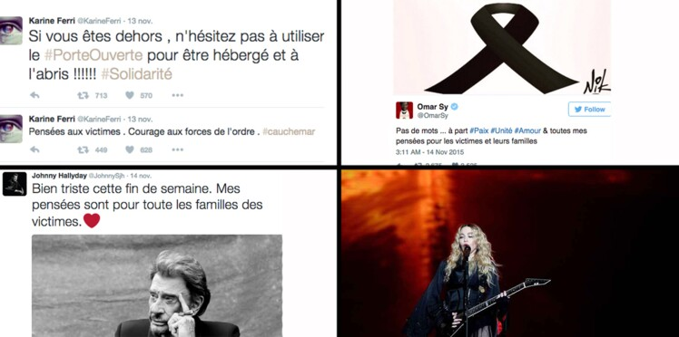 Johhny Hallyday, Karine Ferri, U2, Madonna... Ils rendent hommage aux victimes des attentats