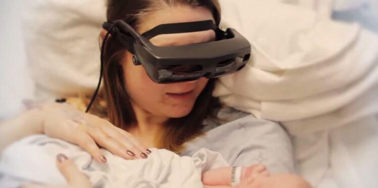 Aveugle, elle voit son bébé pour la première fois grâce à des lunettes spéciales