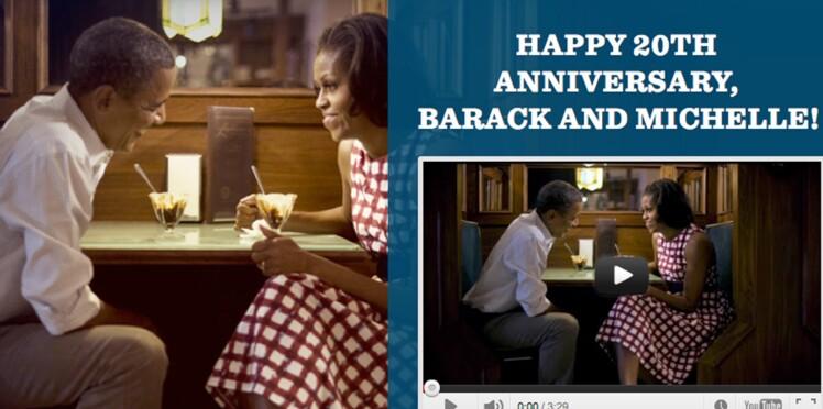 Barack et Michelle Obama : la vidéo de leurs 20 ans de mariage