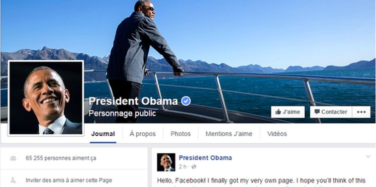 Barack Obama se met sur Facebook