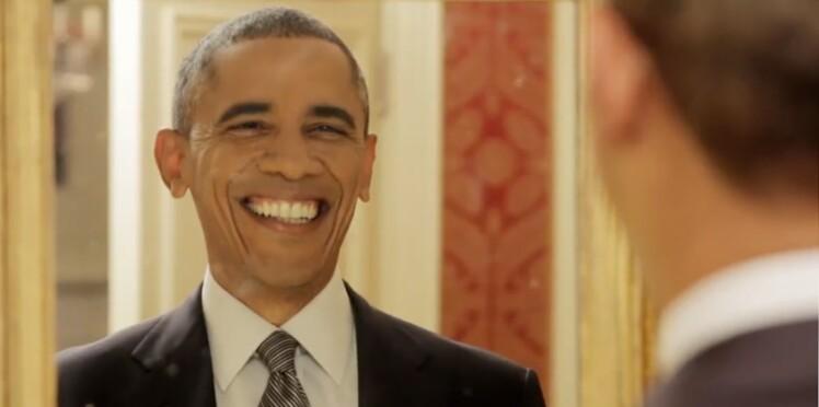 Barack Obama fait le clown pour promouvoir sa politique