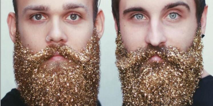La barbe à paillettes, nouvelle tendance pour les fêtes ?