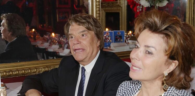 """Bernard Tapie souffre d'un cancer de l'estomac, sa femme Dominique reste """"optimiste"""""""